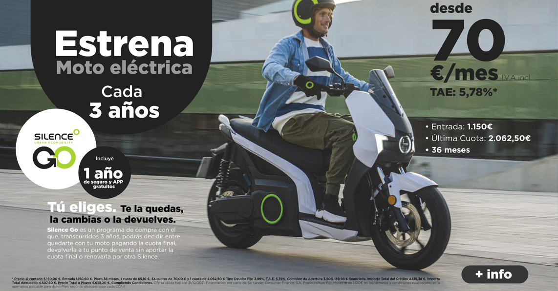 estrena moto eléctrica